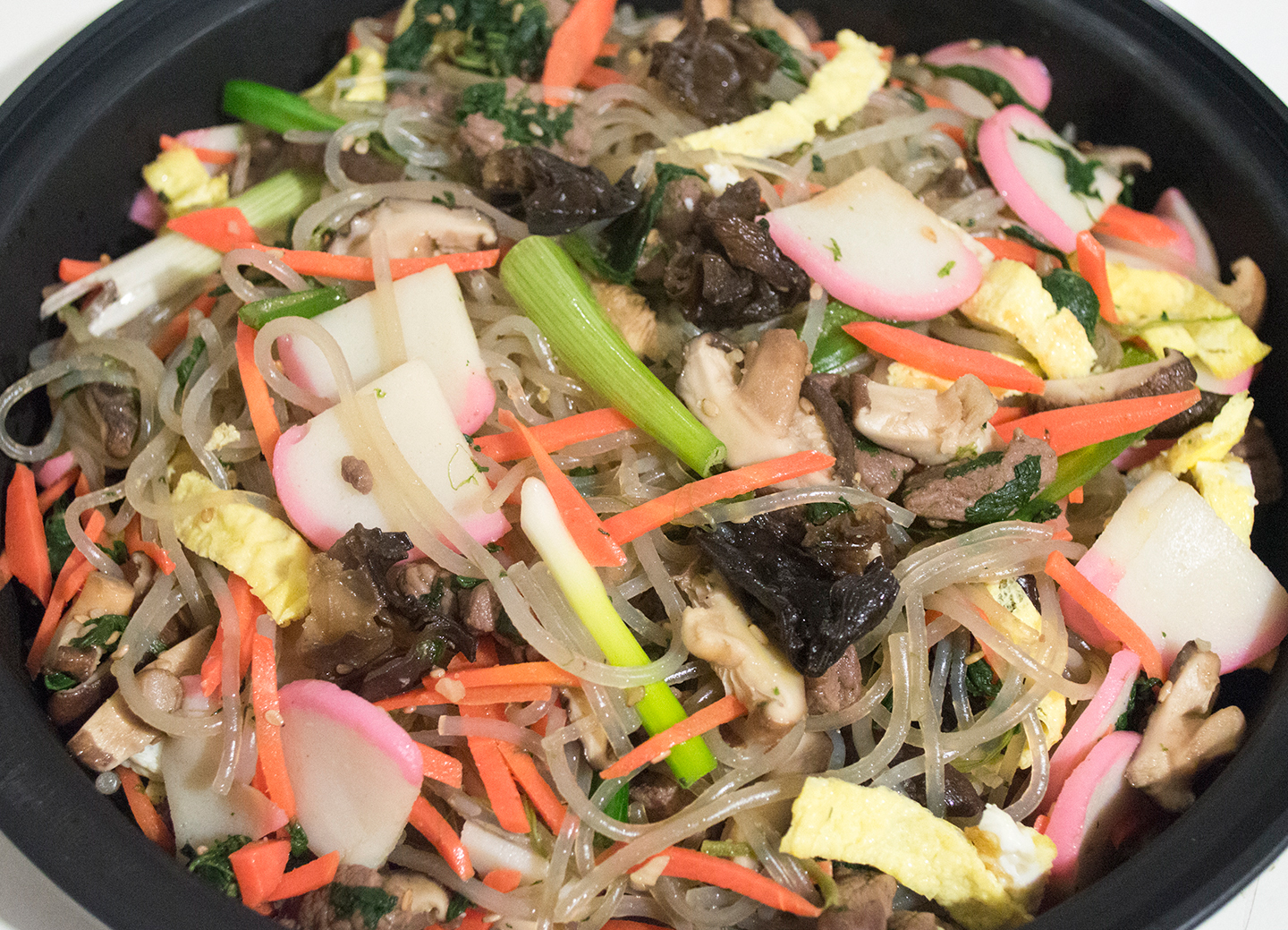 Glass Noodles with Beef and Vegetables - Japchae