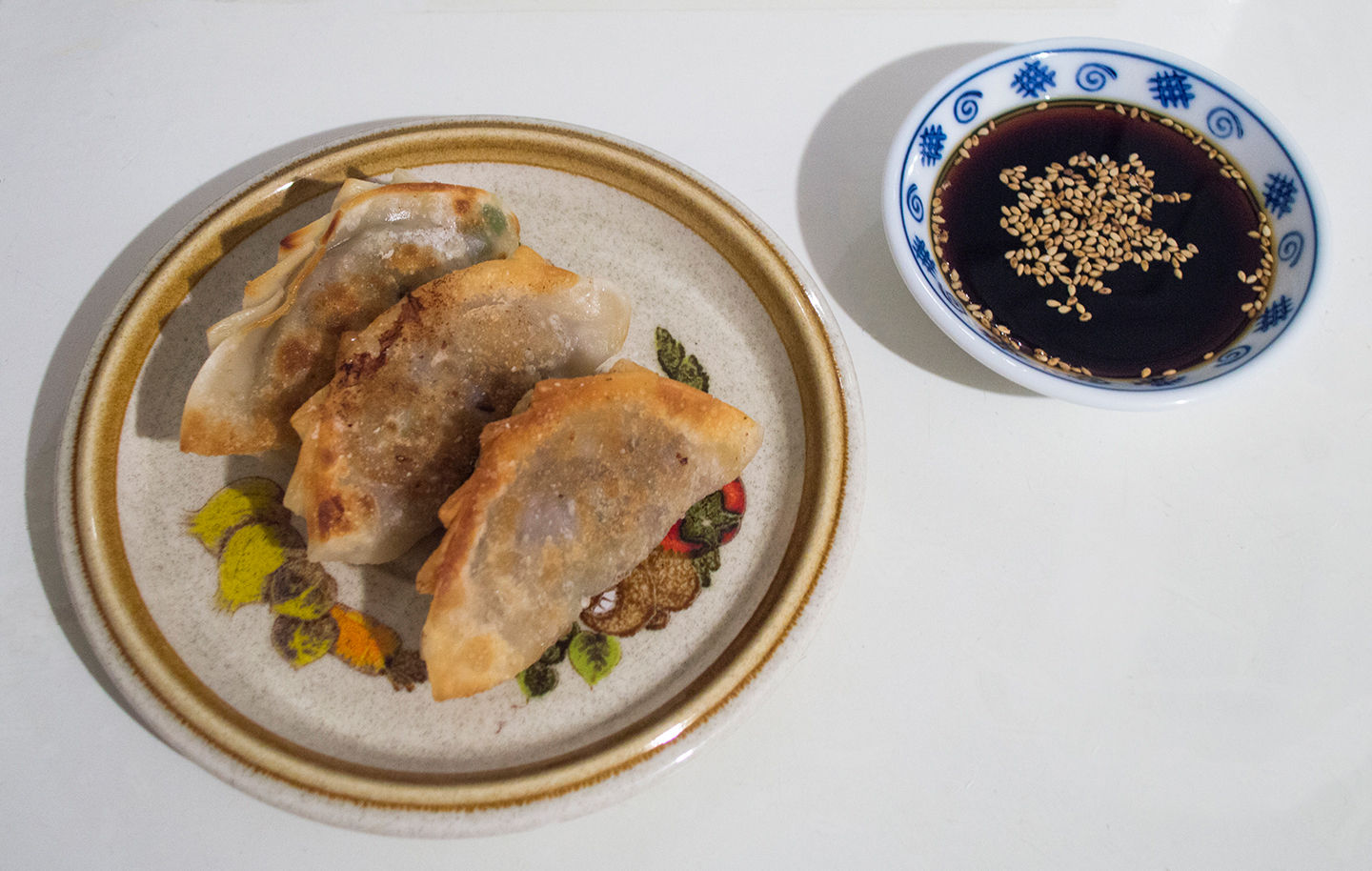 Fried Beef Dumplings with Sauce