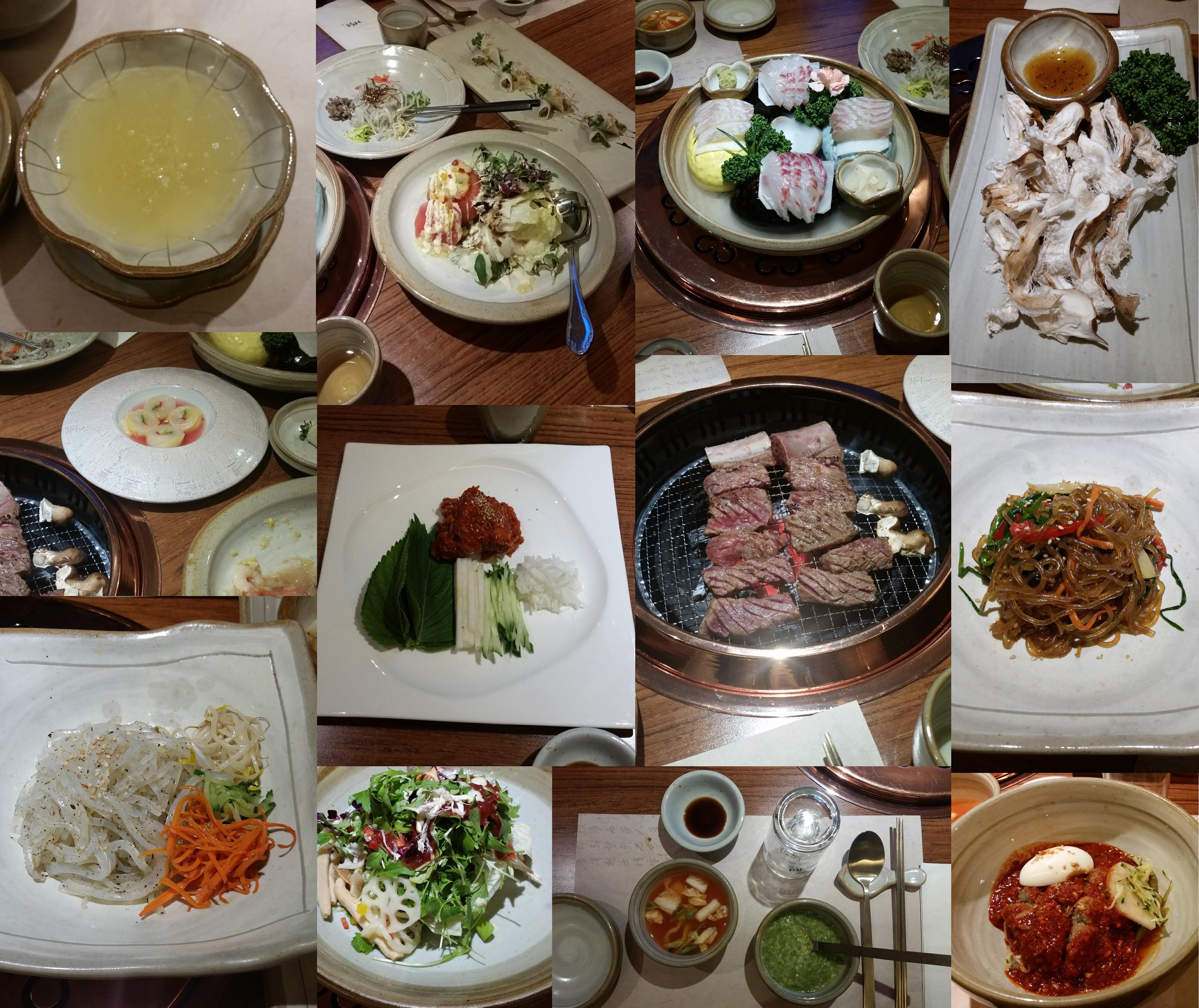 Korea Trip - Bucheon Dinner Collage