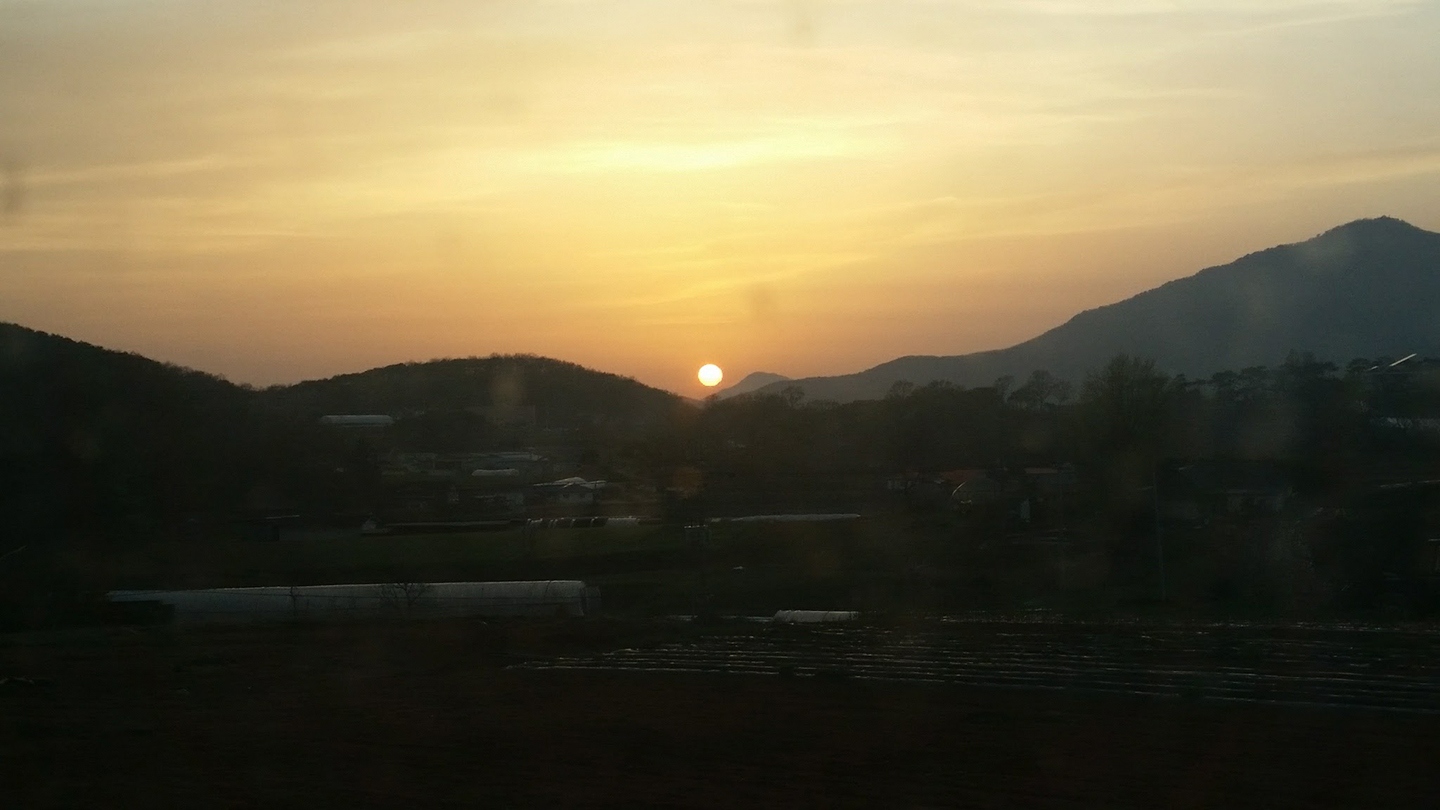 Korea Trip - Farmhouse Sunset