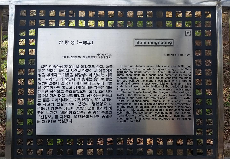 Korea Trip - Fortress Description