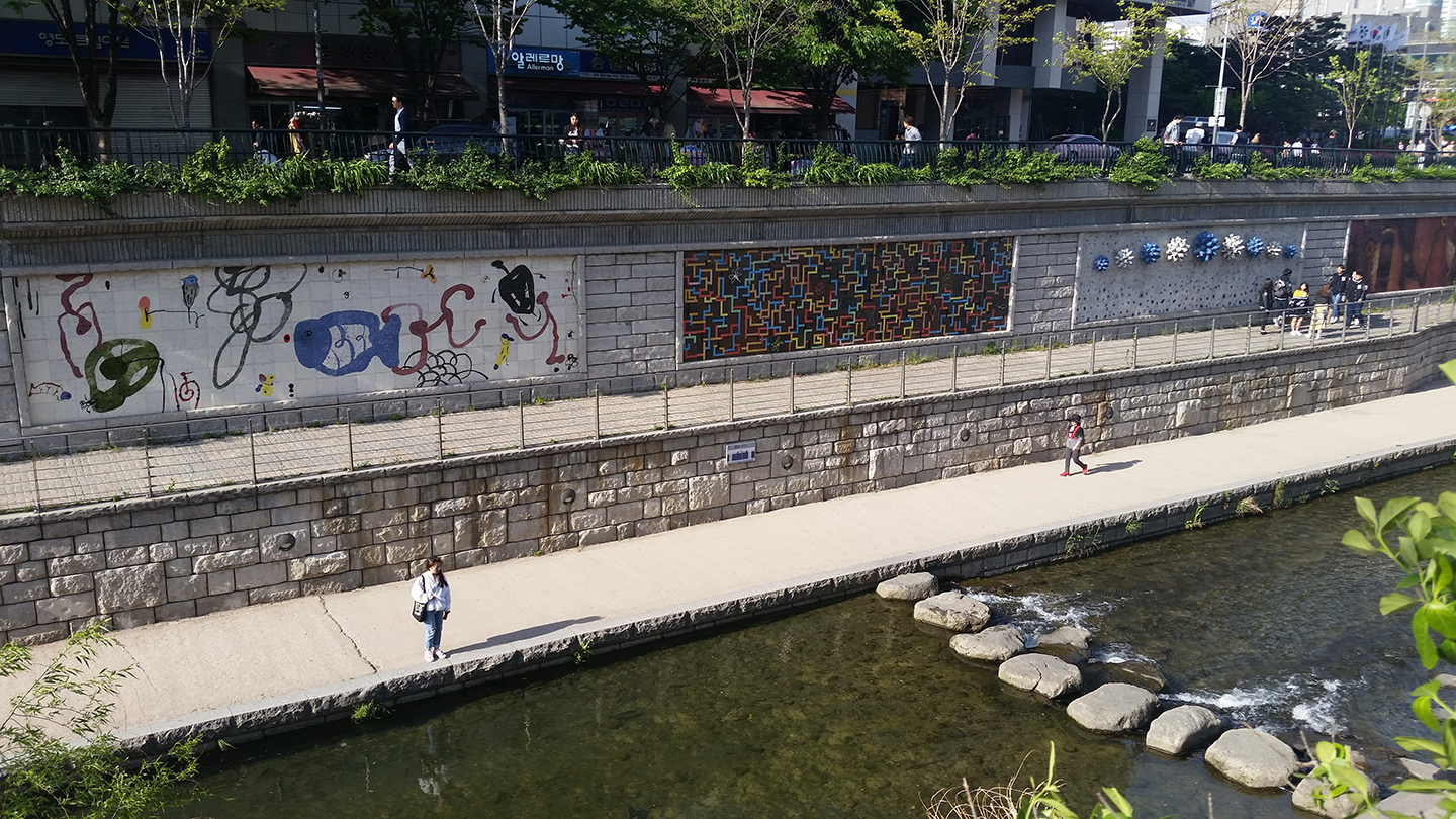 Korea Trip - Cheonggyecheon Artwork