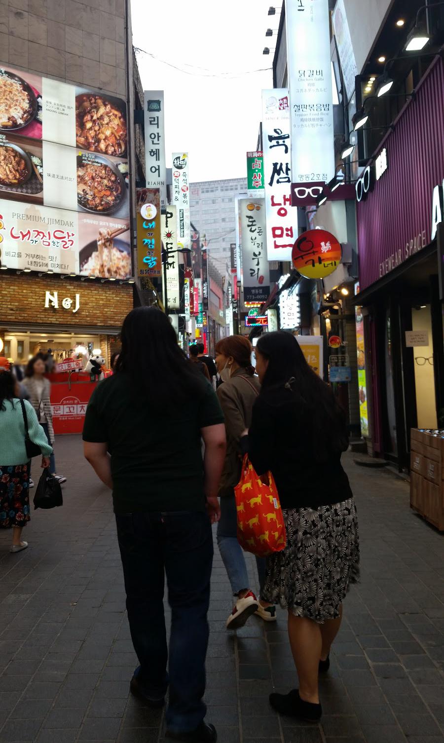 Korea Trip - Myeongdong Wideshot2