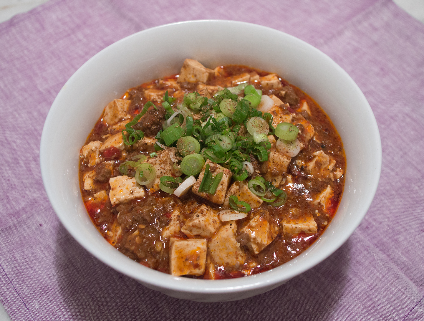 Mapo Tofu (麻婆豆腐) - Bean Curd in Spicy Sichuan Chili Sauce