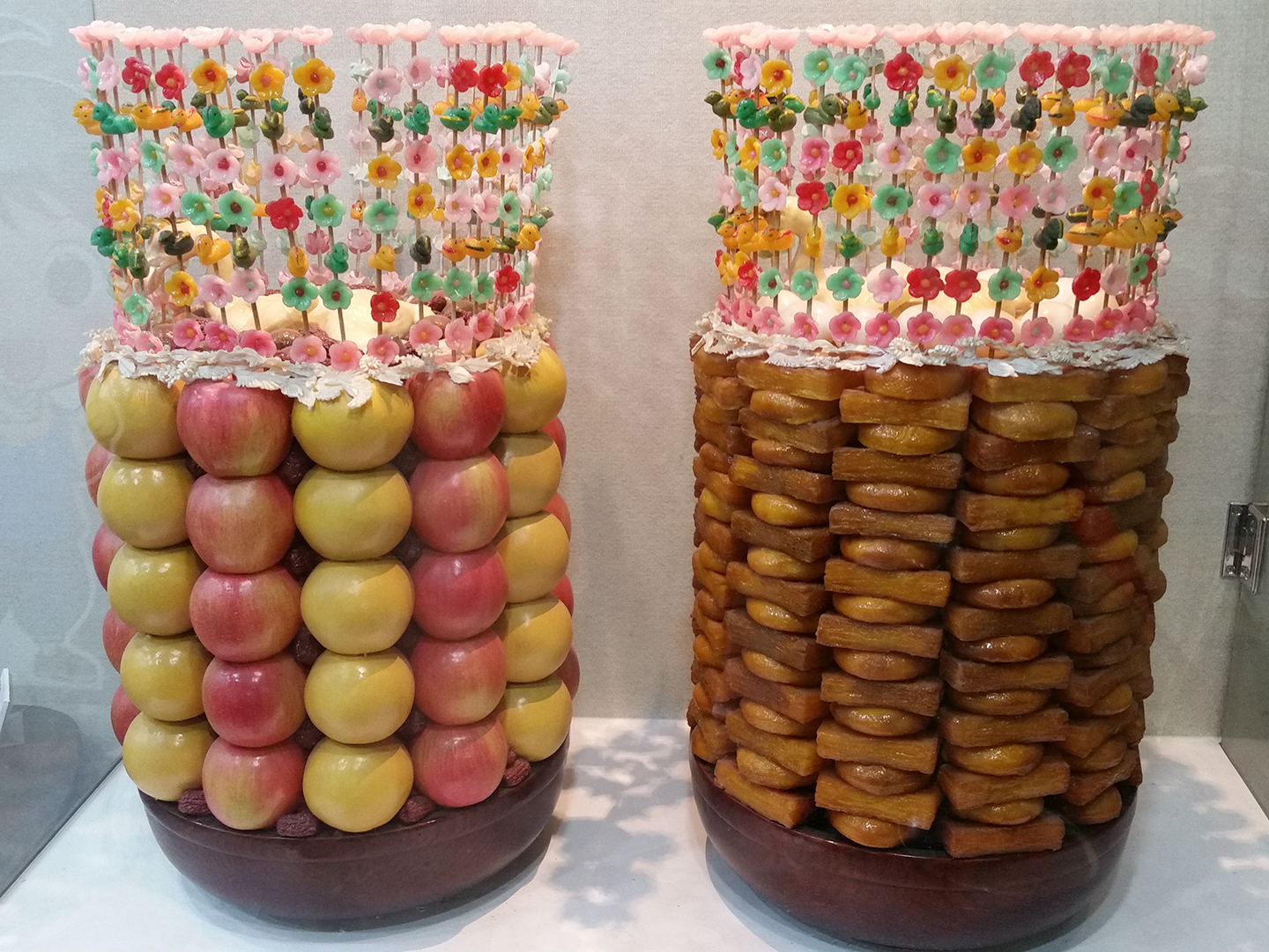 Tteok Museum - Wedding Fruit and Yakhwa Display