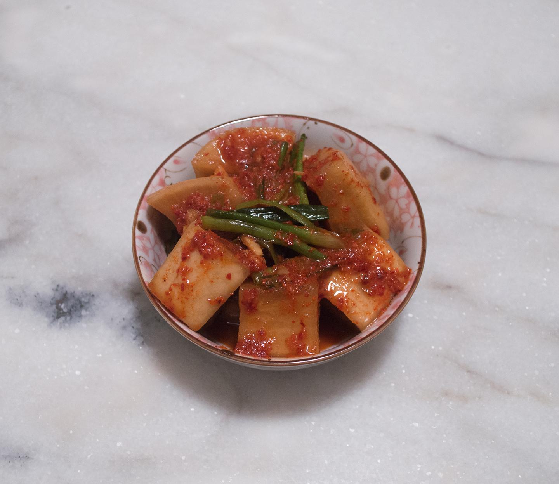 Kkakdugi (깍두기) - Cubed Radish Kimchi