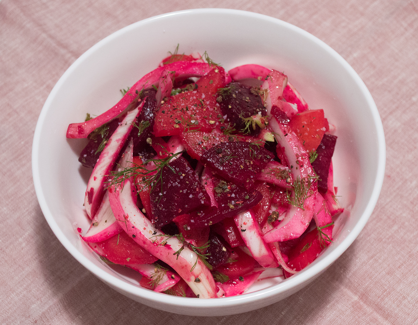 Beet and Fennel Salad with Meyer Lemon Dressing