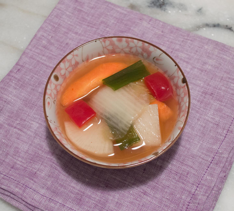 Nabak Kimchi (나박 김치) - Mixed Vegetable Water Kimchi