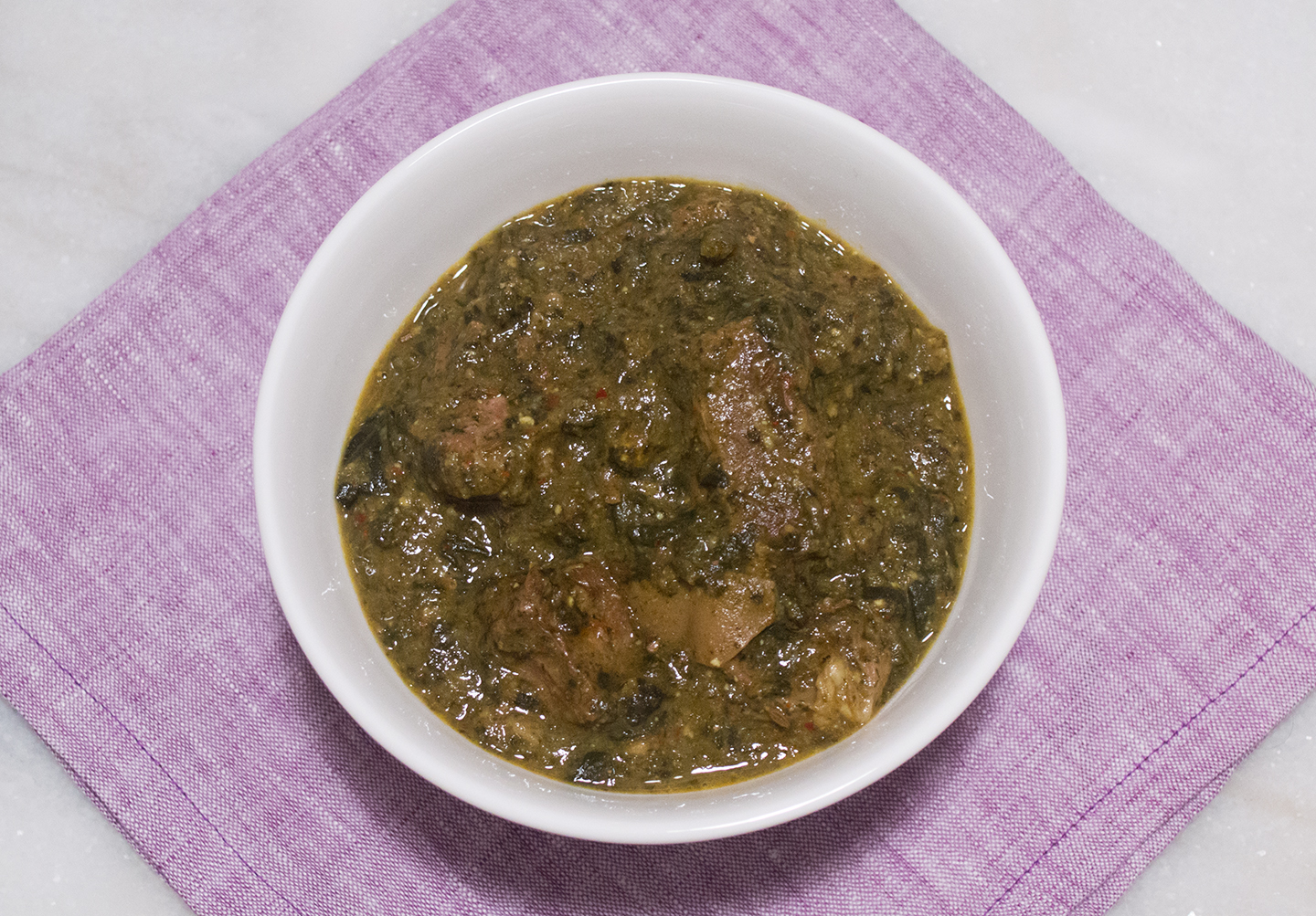 Saag Gosht - Indian Spinach Dish with Meat