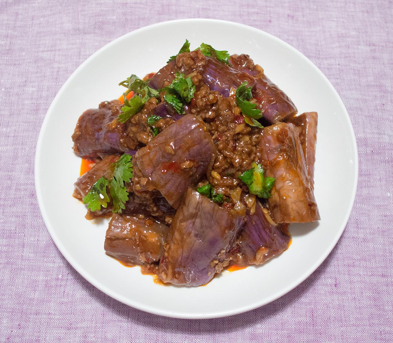 Hóngshāo Qiézi (紅燒茄子) - Red-Cooked Eggplant