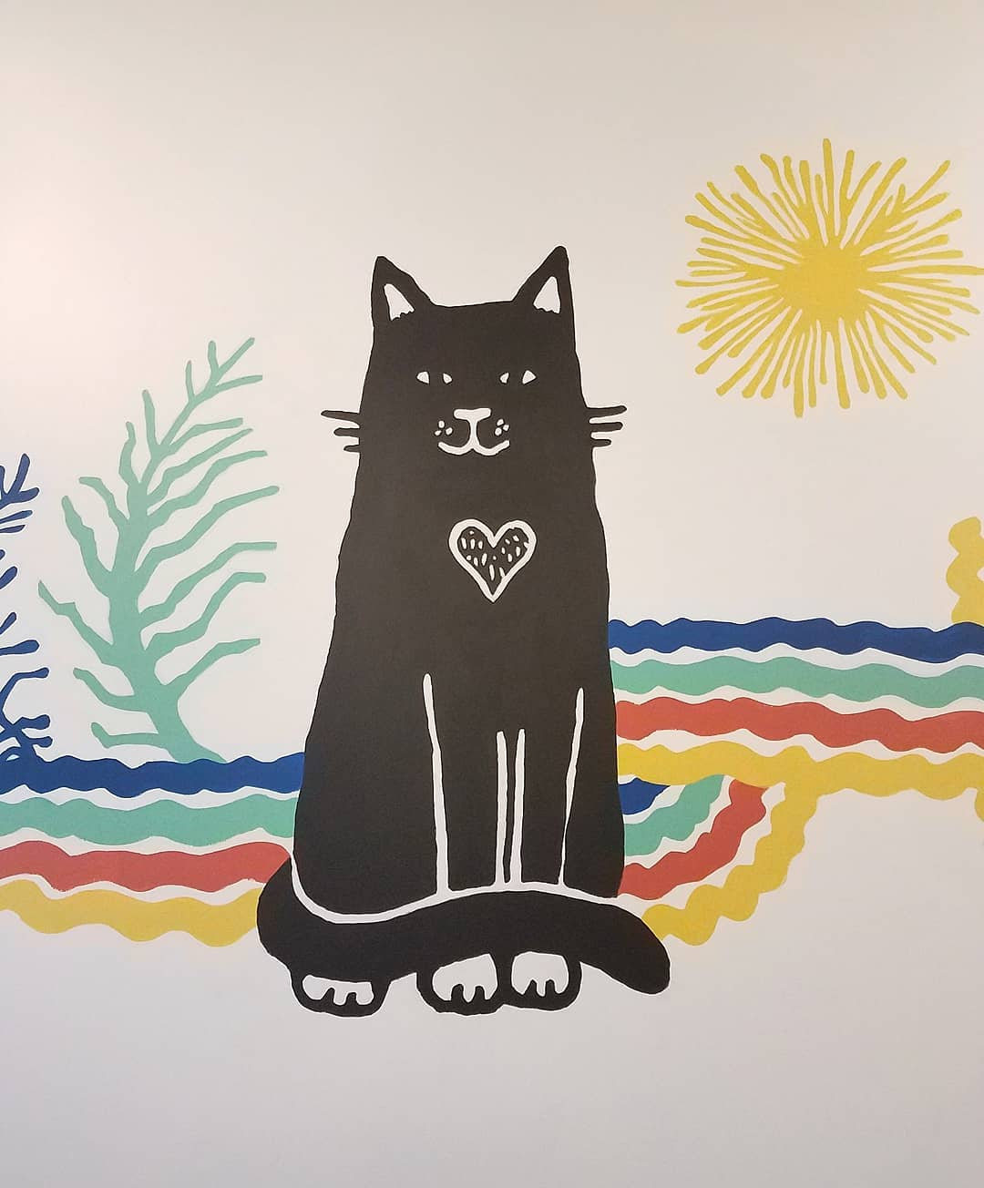 Thanksgiving Trip to Portland - Purrington's Cat Café Mural